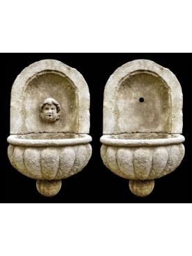 Fontana con mascherone e bacile baccellato