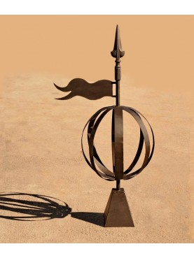 Wind vane armillary sphere forged-iron