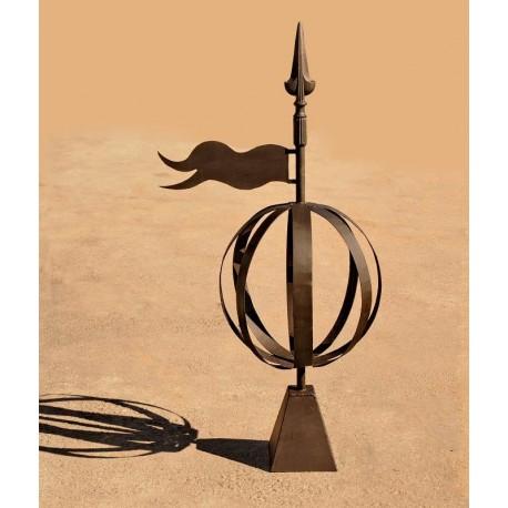 Wind vane armillary sphere forged-iron