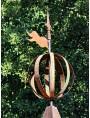 Banderuola con sfera armillare e tronco di cono nera