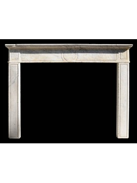 Fireplace in carrara marble