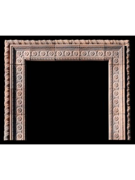 Lombard fireplace with terracotta frame