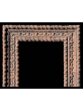 Lombard fireplace terracotta frame