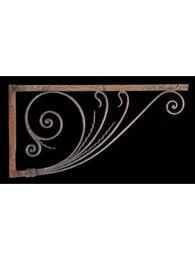 Coppia di stupende mensole 106cm in ferro battuto