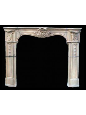 Terracotta Fireplace with wax patina