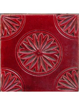 Engraved majolica tiles