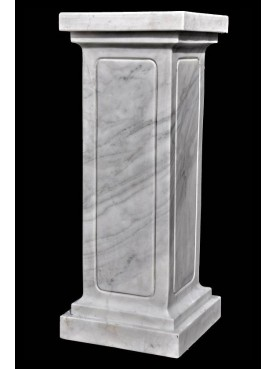 White Carrara marble base H.80cm/35x35cm