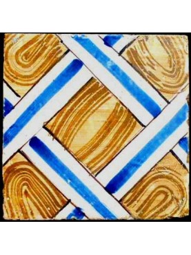 Ancient majolica tile parquet