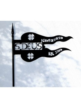 Grande banderuola a tema religioso cattolico