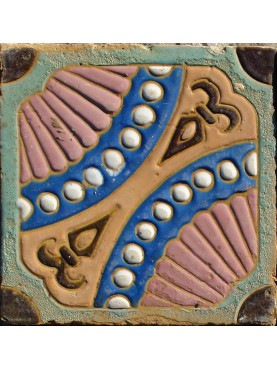 Original ancient Liberty majolica tile