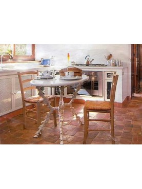 Mix terracotta floor tiles