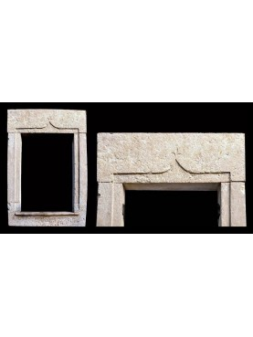 White limestone window