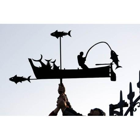 Grande banderuola con pescatore Ligure