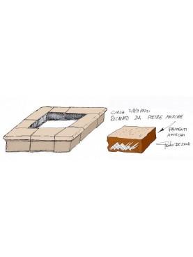Copertina di pozzo ricavata da pietre