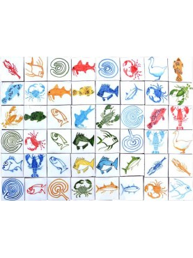 Berbers Morocco Tiles animals and labirynths