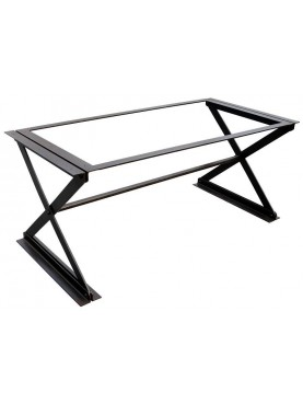 Iron Table with X legs