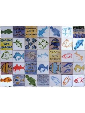 Piastrelle Marocchine Berbere pesci