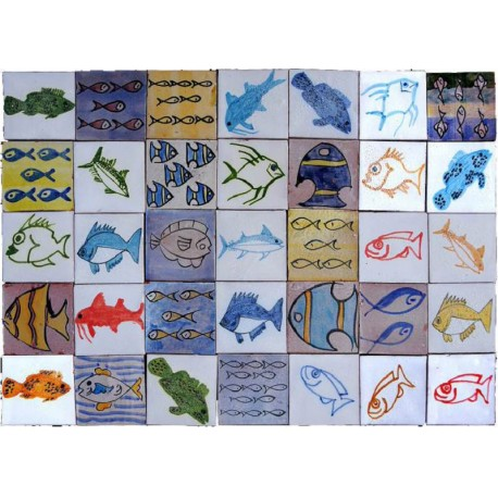 Berbers Morocco Tiles fishes