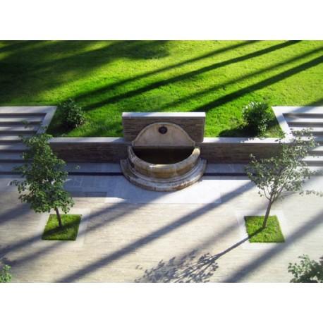 Fontana semicircolare in 5 pezzi