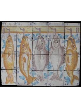 Fish majolica panel