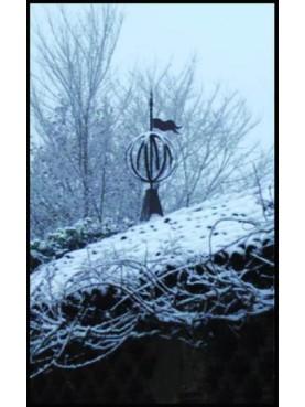 Banderuola con sfera e tronco di cono nera