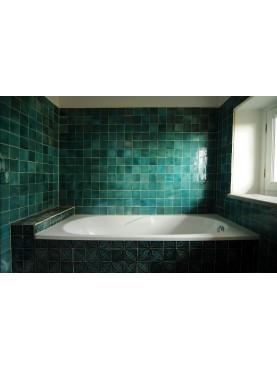 Piastrelle Berbere Verdi nel bagno di Malvina