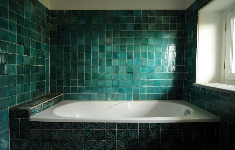 Piastrelle berbere verdi nel bagno di malvina recuperando