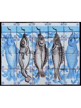 Pannello pesci 20 piastrelle