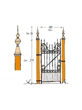 Cancello pedonale ferro battuto
