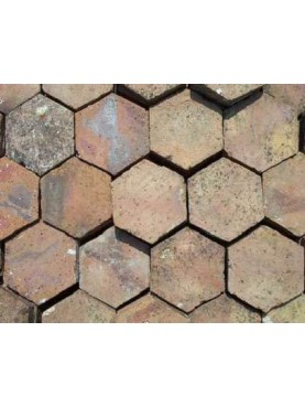 Beige hexagonal tiles