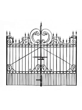 Iron gate 3,50 m.