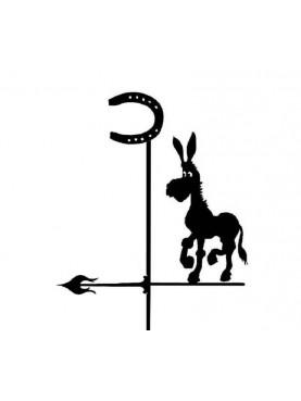Weather vane with donkey