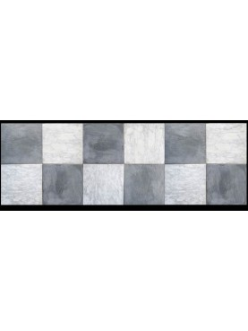 SQUARE of white and grey marble