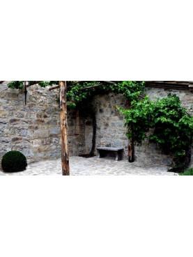 La panchina del parco della villa Ratti a Como
