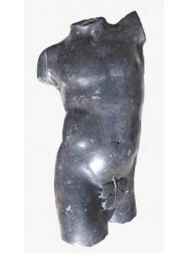 Torso del satiro in marmo Nero Marquinia