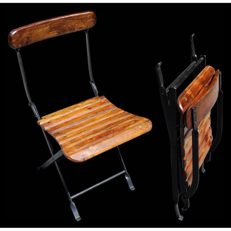 Sedie In Ferro Pieghevoli.Iron And Wood Folding Chair Recuperando