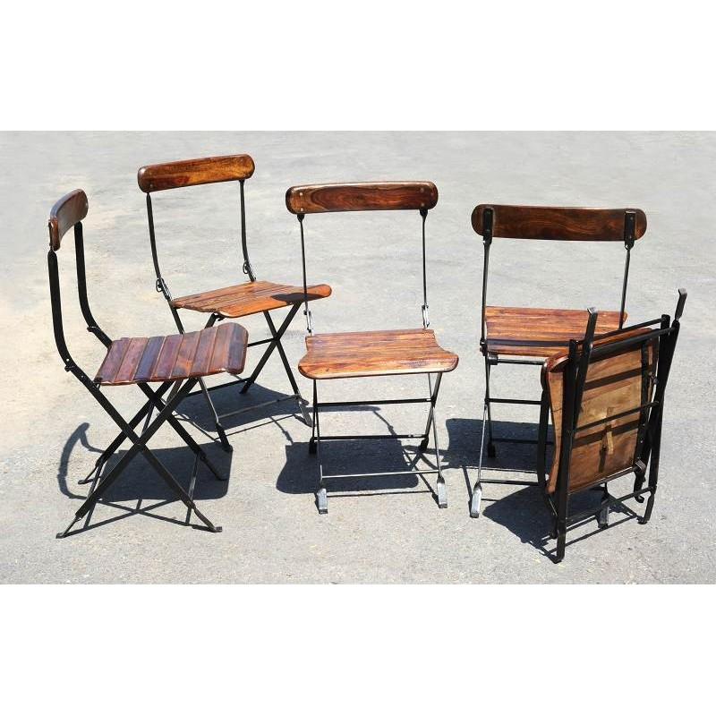 Sedie Legno E Ferro.Iron And Wood Folding Chair Recuperando