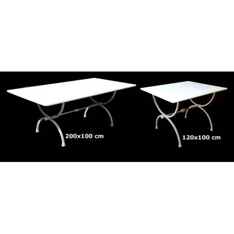 Coppia di tavoli a centine totale 320 cm