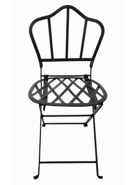 Folding Castellini's chair wrought iron garden chair