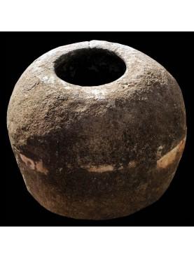 Giara in pietra H.60cm per la calce idrata