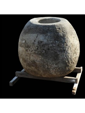 Stone jare for hydrated lime H.80cms