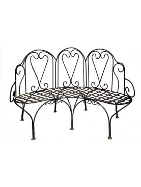 Settee Curved forged iron bench
