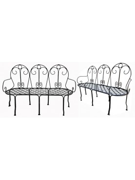 Settee iron garden bench 3 seater