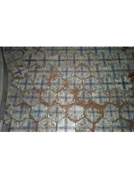 Reproduction medieval tiles