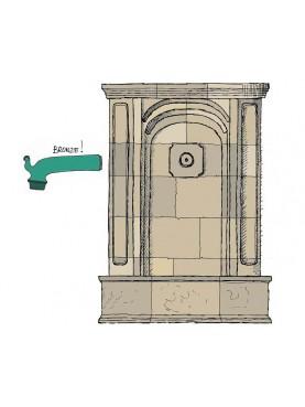 Grande fontana in pietra 28 pezzi 220x177 cm