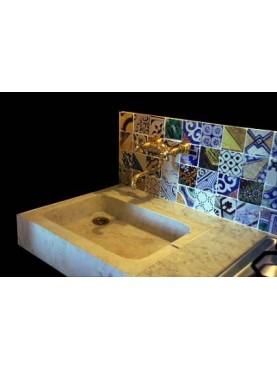 Isola d'Elba lavandino e piastrelle 5 x 5 cm