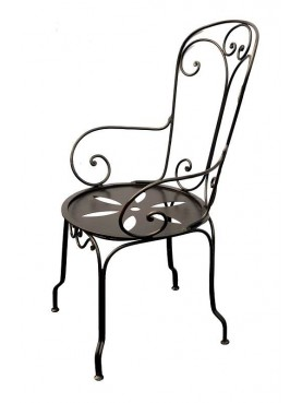Armchair of the Naval Academy of Livorno wrought iron