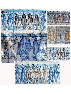 Portuguese fishes tiles selection