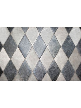 Marble floor with rhombuses