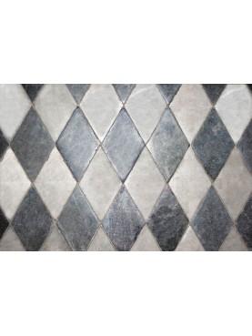 Marble floor with rhombuses